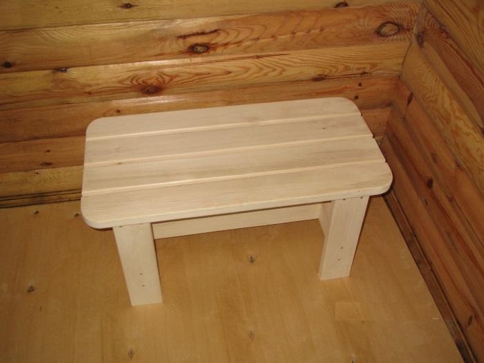 Скамейки столы для бани своими руками из